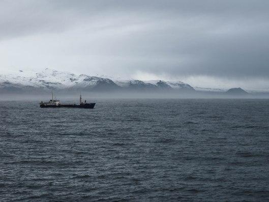 Blick von der Fähre (Westmänner Inseln)